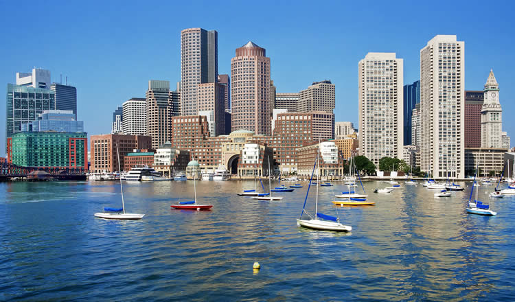 Boston Downtown Skyline Inner Harbour