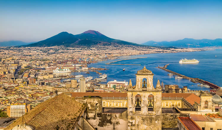 Naples Italy Harbour and Bay