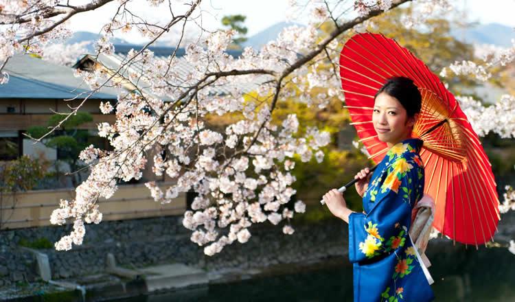 Tradional clothing woman Japan