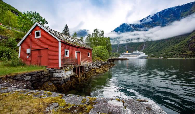 Cruise ship in Kirkenes Norway