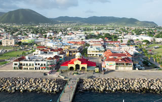 Port of Basseterre in St Kitts