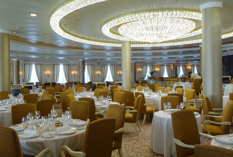 main dining room oboard Oceania