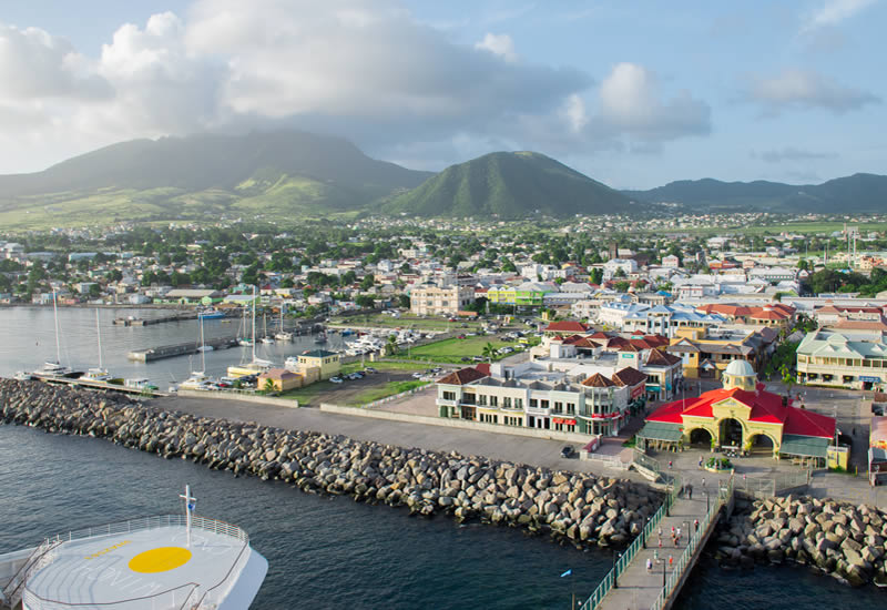 view of cruise pier Basseterre
