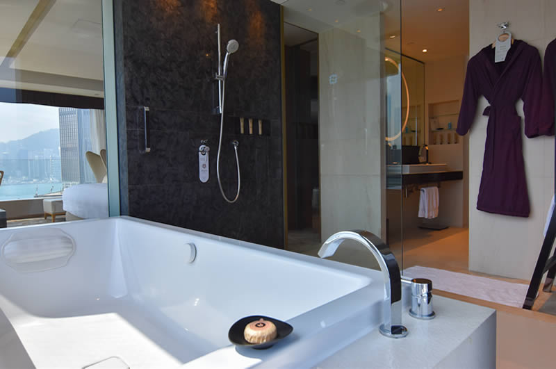 bathtub and bathroom
