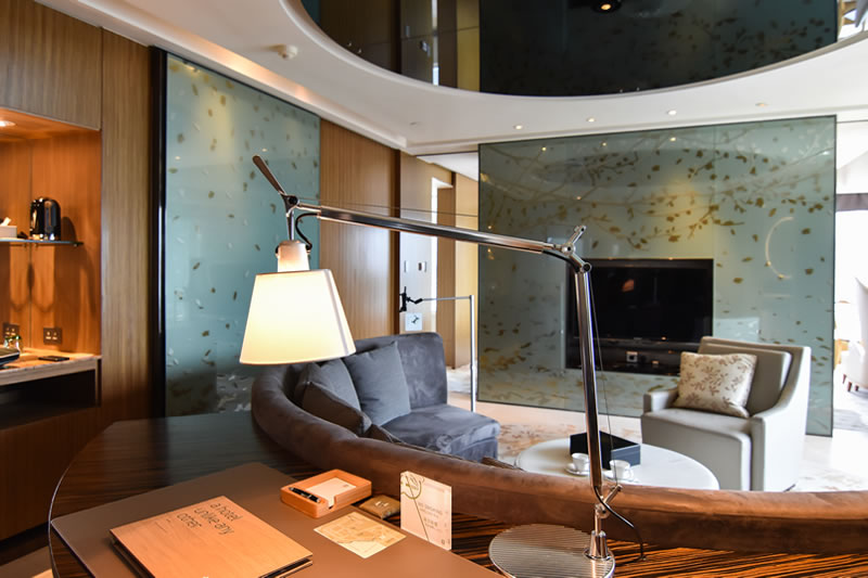 Living Room of Club80 Suite