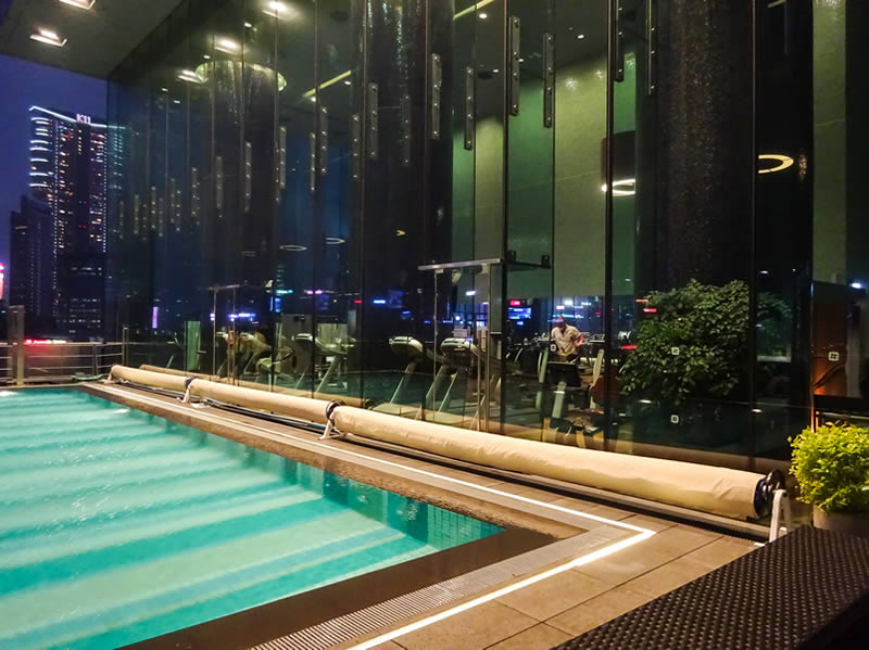 Pool and fitness area