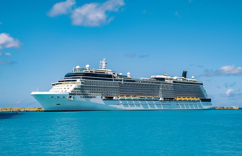cruise ship in Barcelona