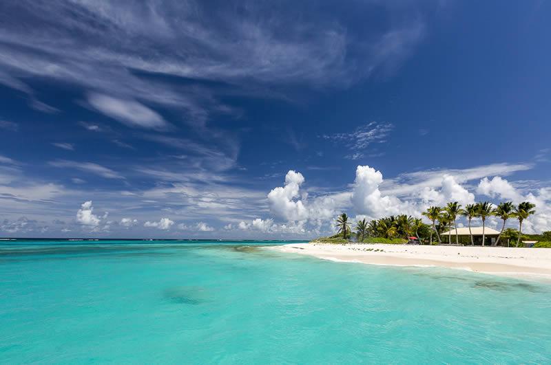 Prickly Island beach in Anguilla