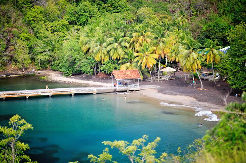 Anse Noir beach on Grand Anse Martinique