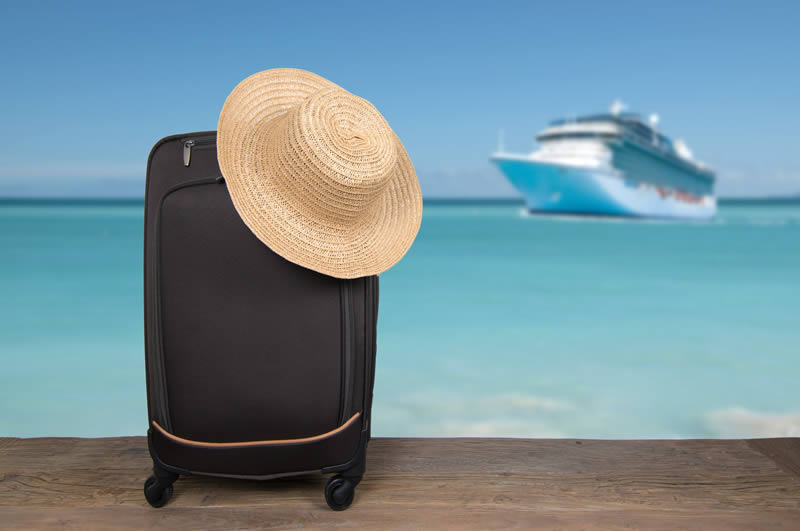 Handluggage for taking on a cruise