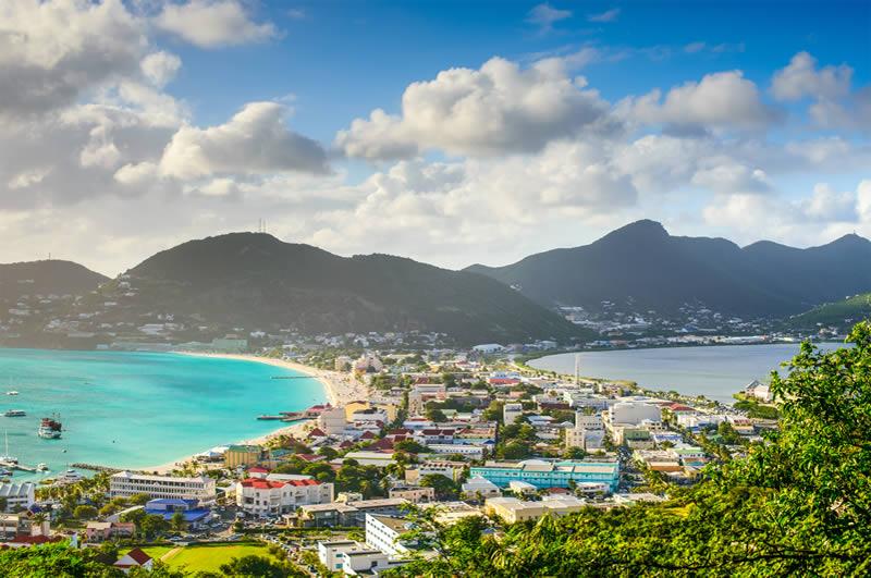View over Philipsburg St Maarten