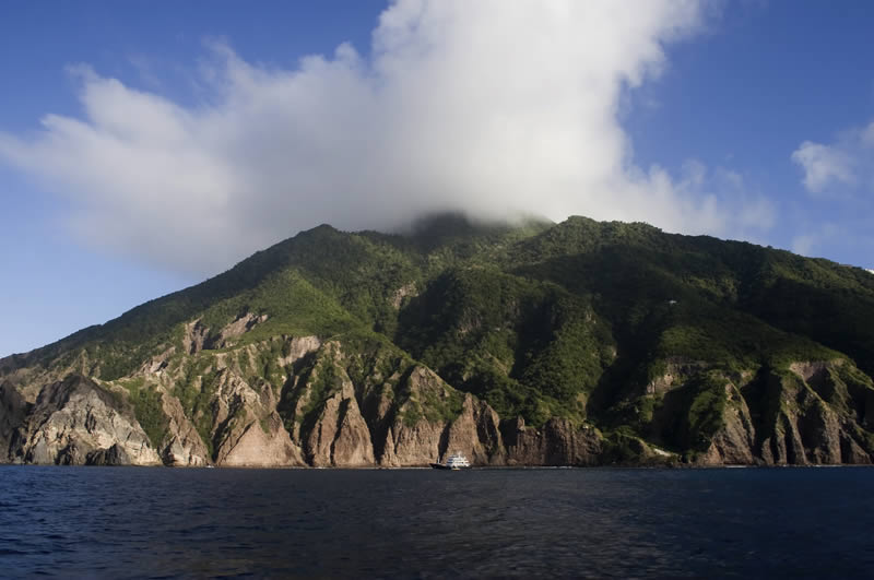 Saba Island in the Lesser Antilles