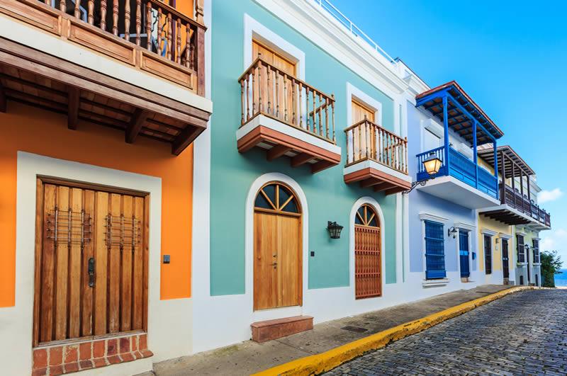 Old houses in San Juan Puerto Rico