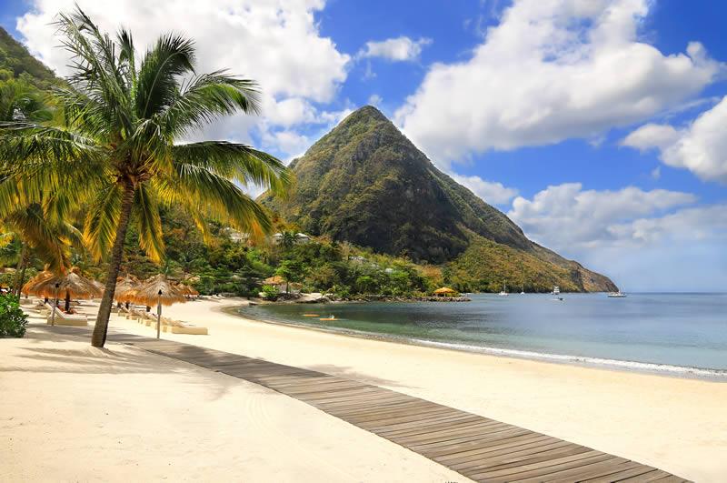Sugar Beach Viceroy Resort St. Lucia white sandy beach