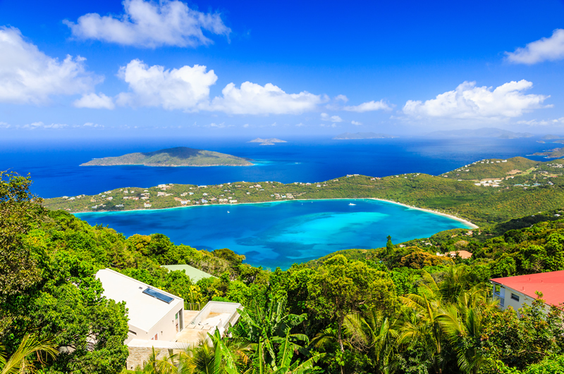 Magens Bay beach in St Thomas