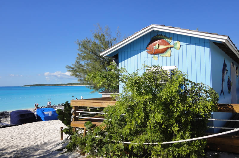 Half Moon Cay private island in the Bahamas