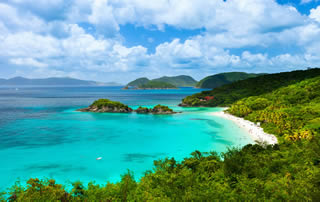 Trunk Bay on the island of St John Eastern Caribbean