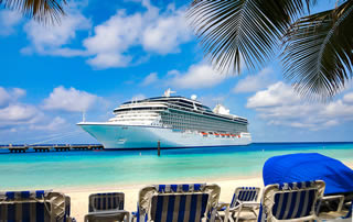 cruise ship Caribbean beach