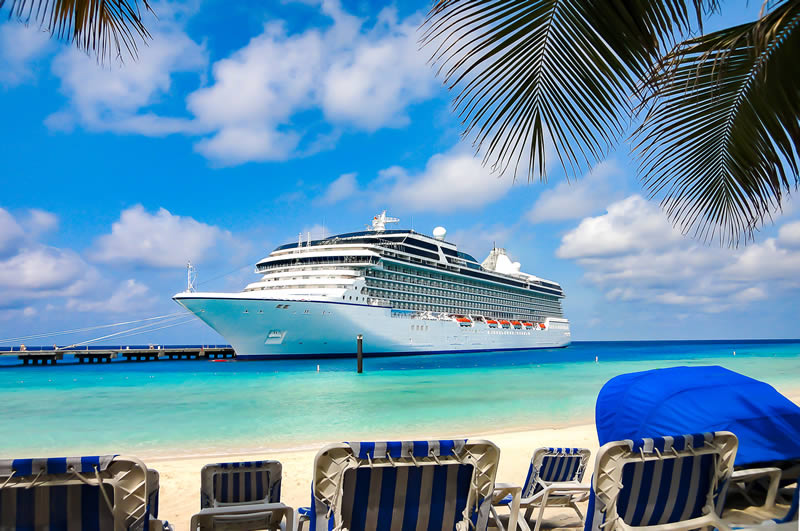 cruise ship docked in Grand Turk Turks and Caicos Islands