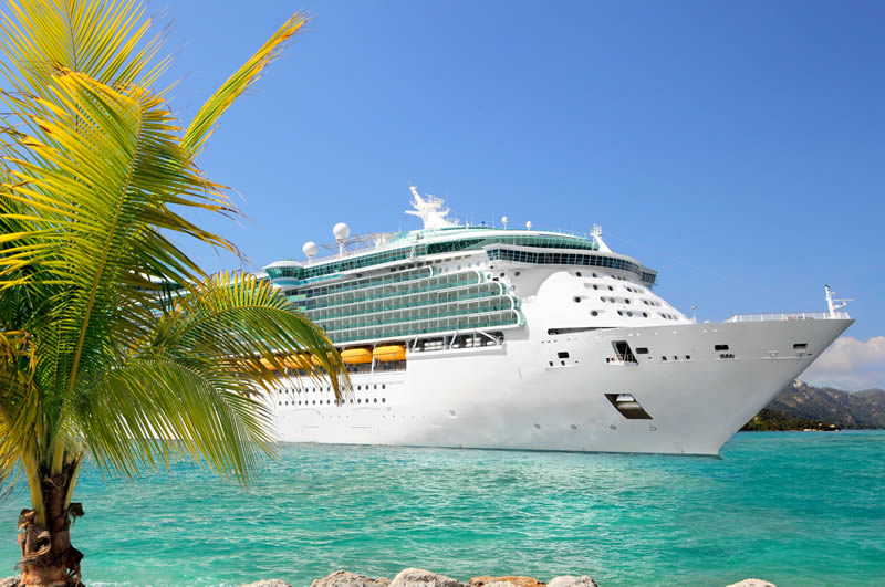 Cruise ship in Caribbean