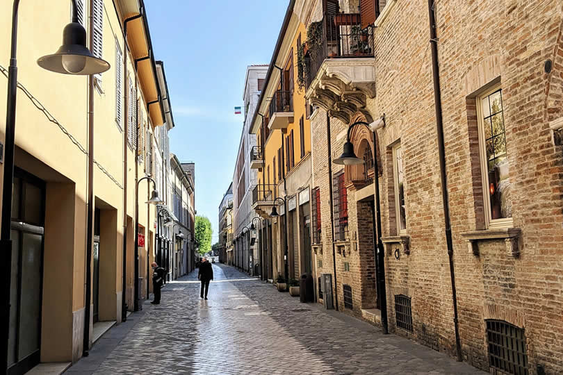 Ravenna Italy small streets