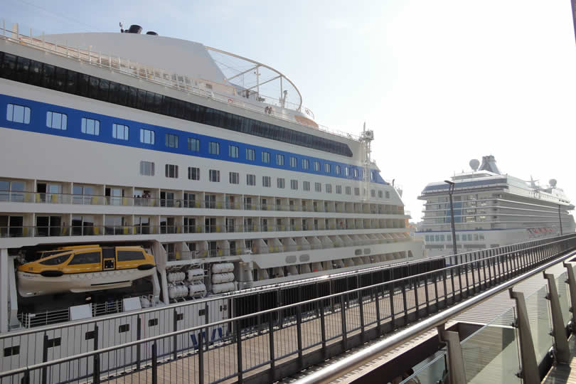 Cruise ships docked in Amsterdam
