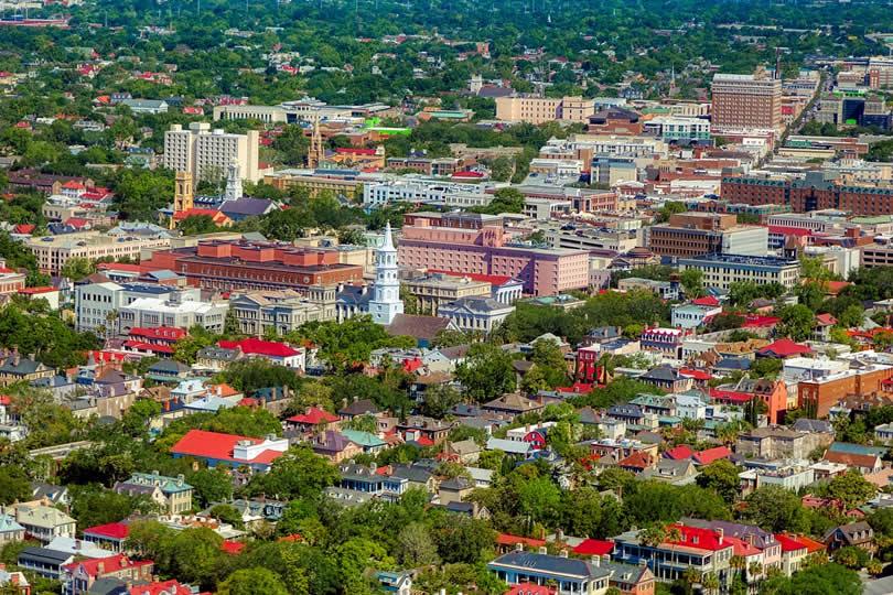 Charleston downtown area