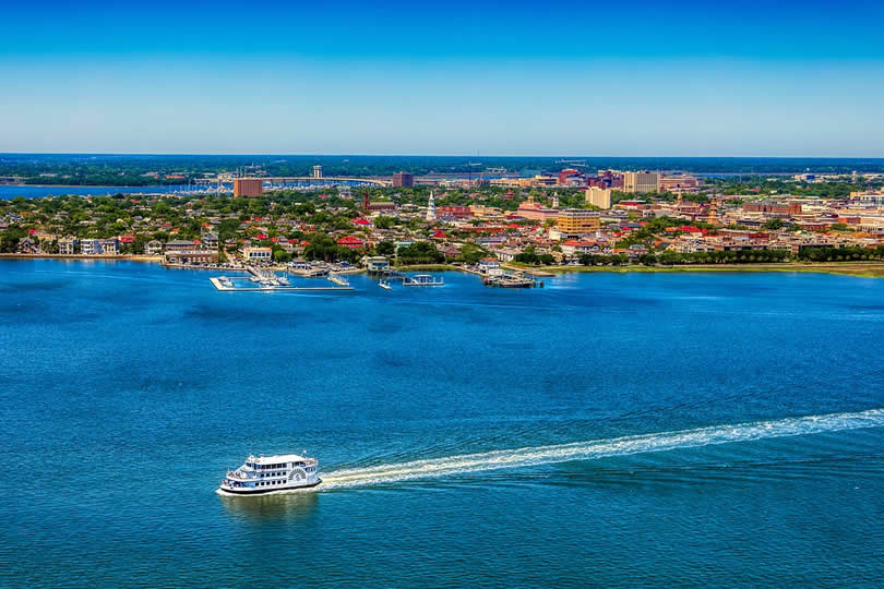 Charleston pier and harbor