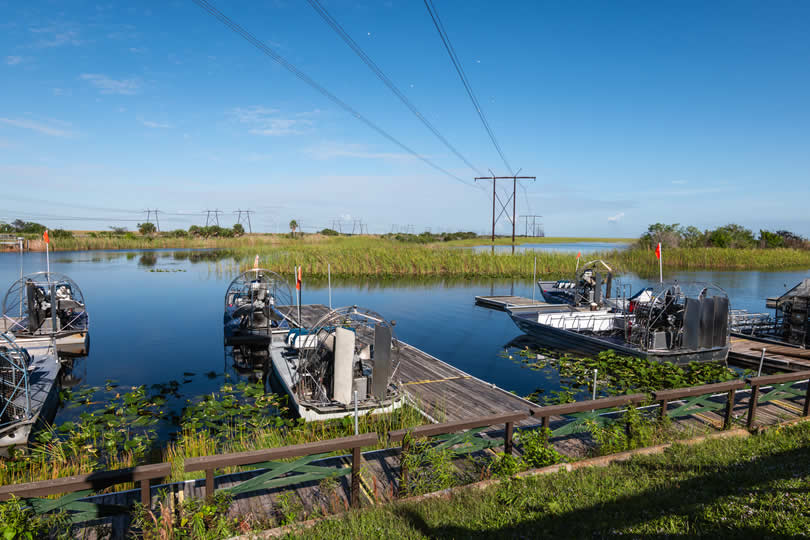 Air boat ride in Everglades National Park near Miami