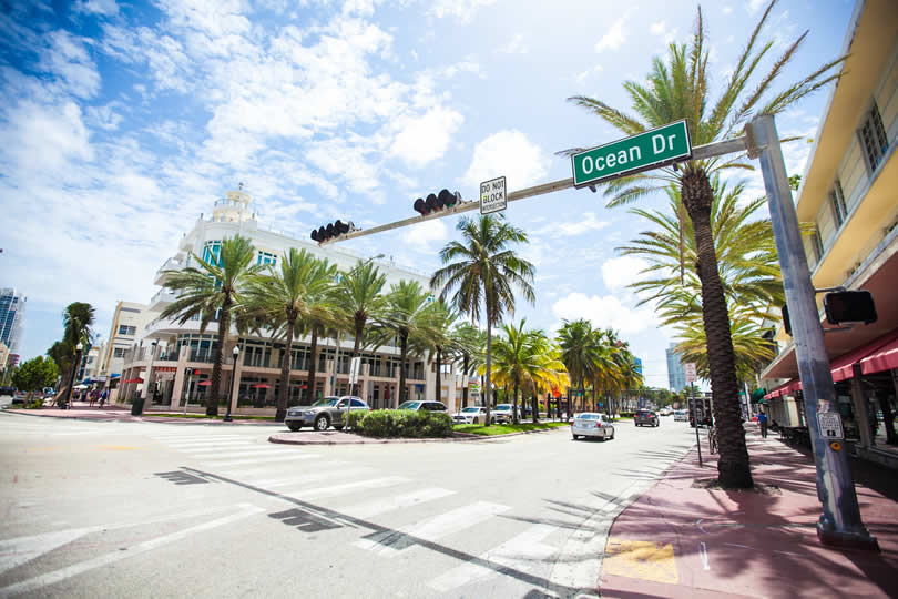 Ocean Drive in South Beach