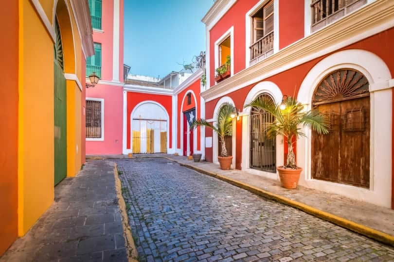 Old San Juan colorful street
