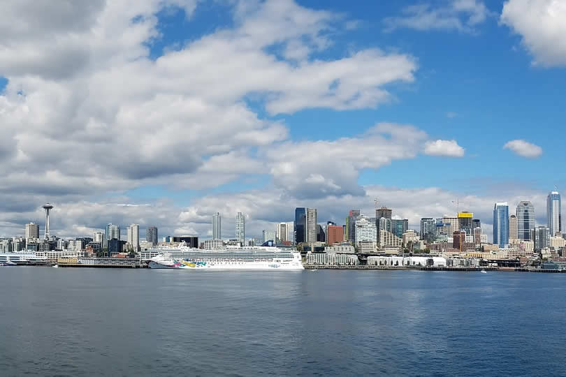 Pier 66 cruise ship docked