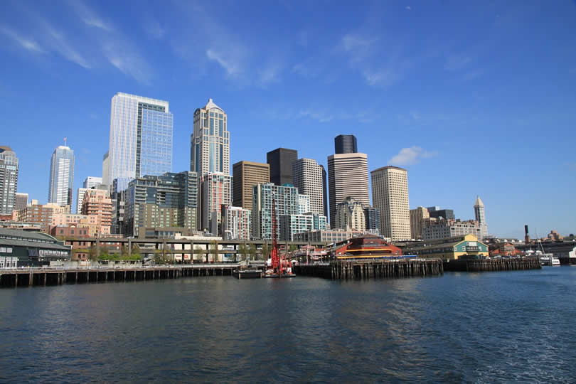 Seattle downtown and waterfront