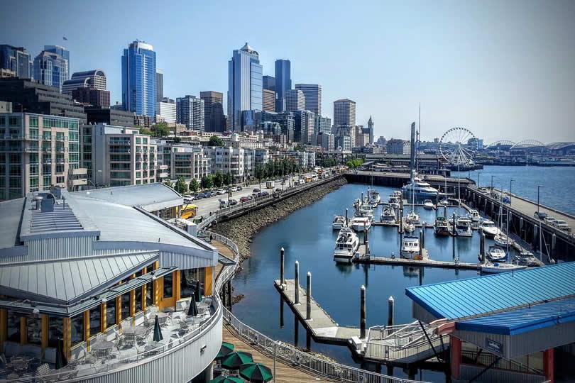 Seattle waterfront pier 66 area