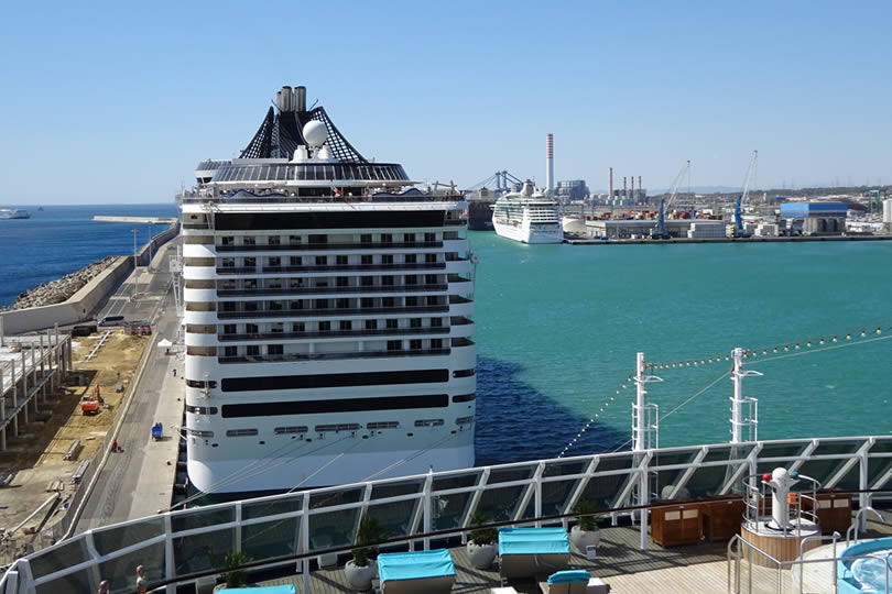 Civitavecchia Port of Rome cruise ship