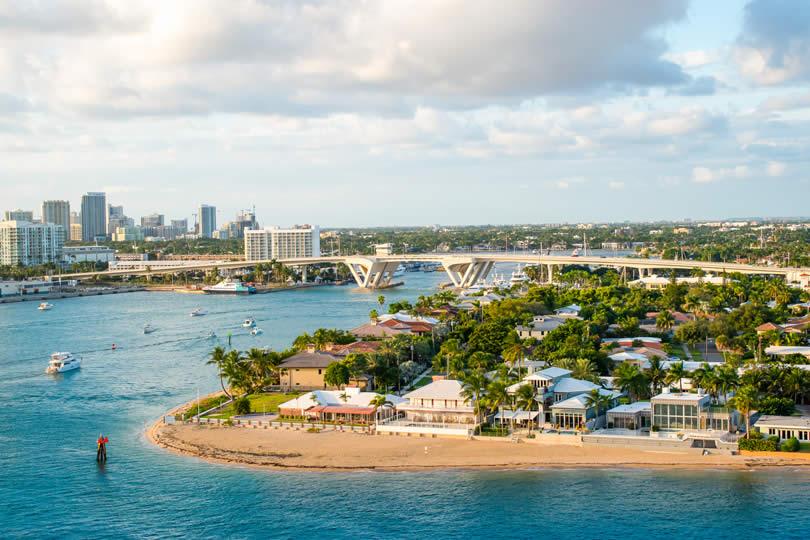 Fort Lauderdale 17th Street Bridge Port Everglades