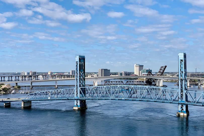 Jacksonville Port and bridges