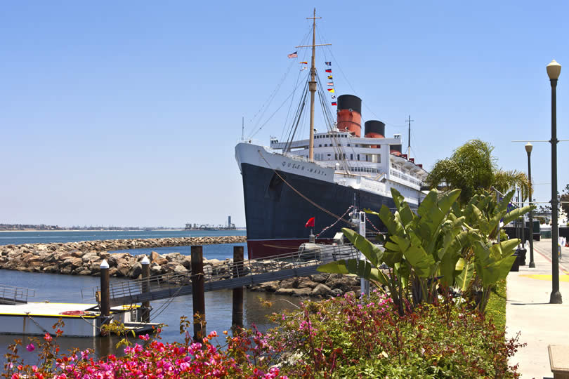 Long Beach Queen Mary hotel near cruise terminal