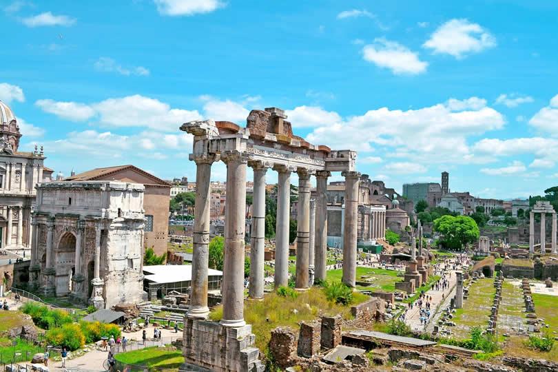 Roman Forum in summer