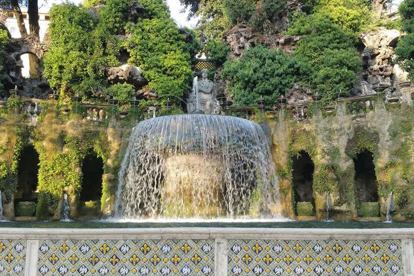 Rome Tivoli Fountain in Summer