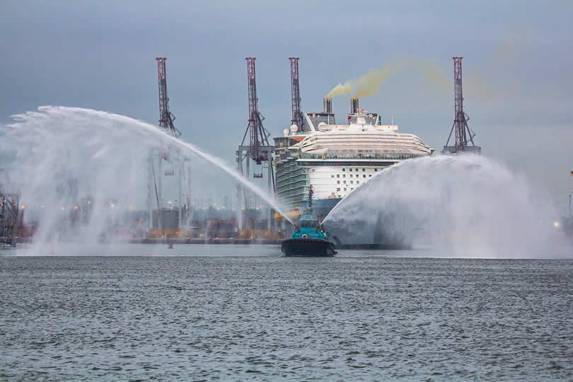 Cruise ship in port of Southampton