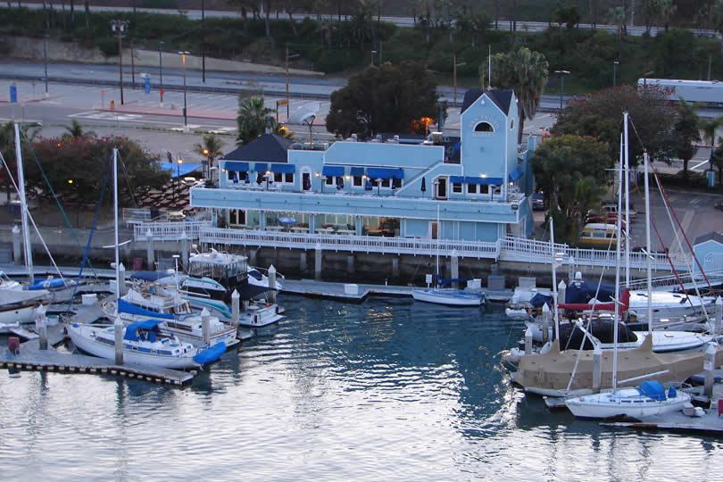 San Pedro marina in California