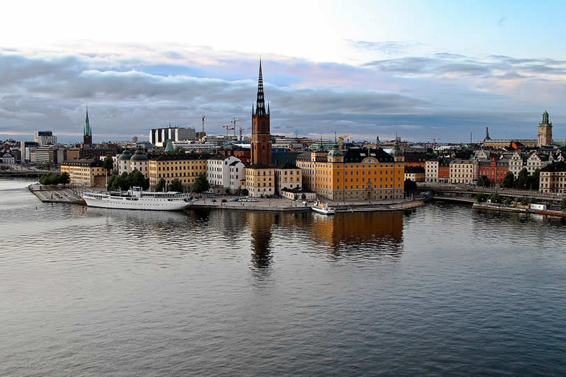 Old town of Stockholm in Sweden