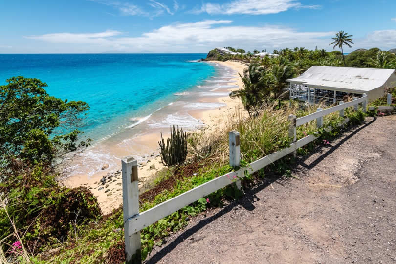 Antigua Curtain Bluff beach