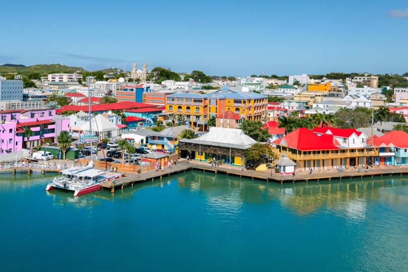 St Johns cruise ship port in Antigua