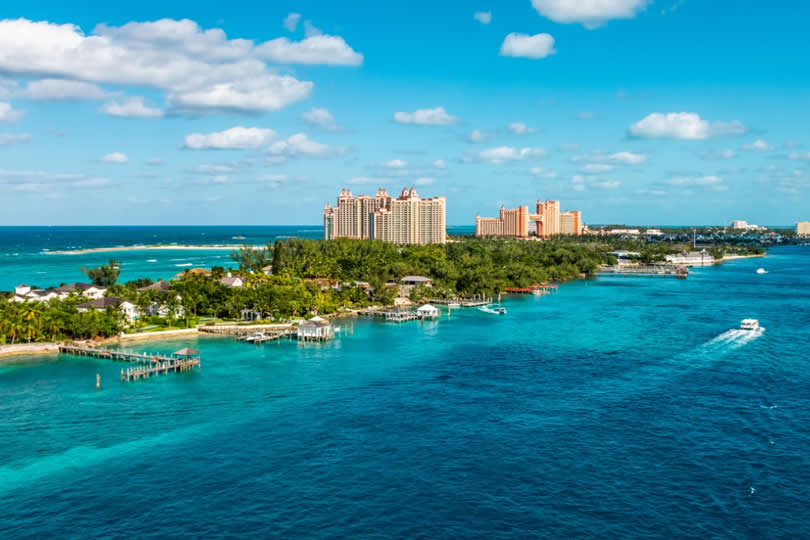 Atlantis Resort view from cruise ship