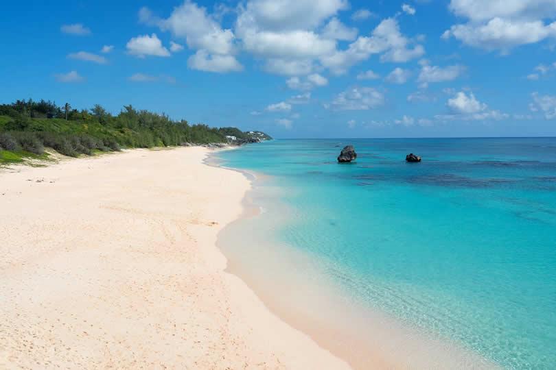 Pink Beach in Bermuda