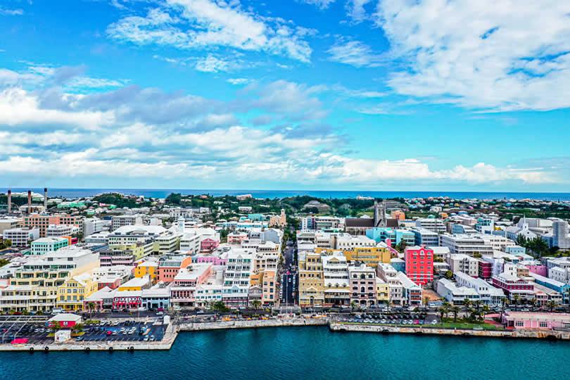Hamilton city centre in Bermuda