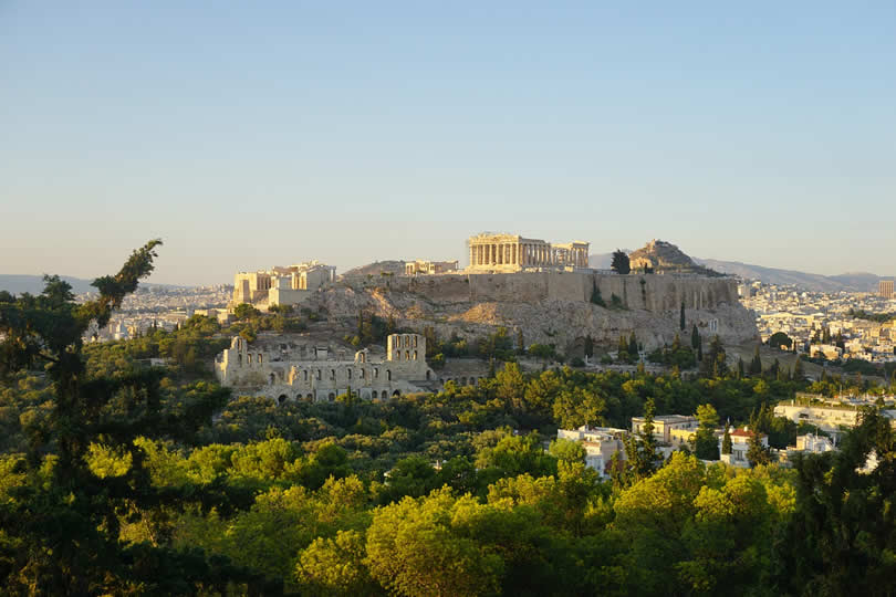 View of Acropolis in Athens