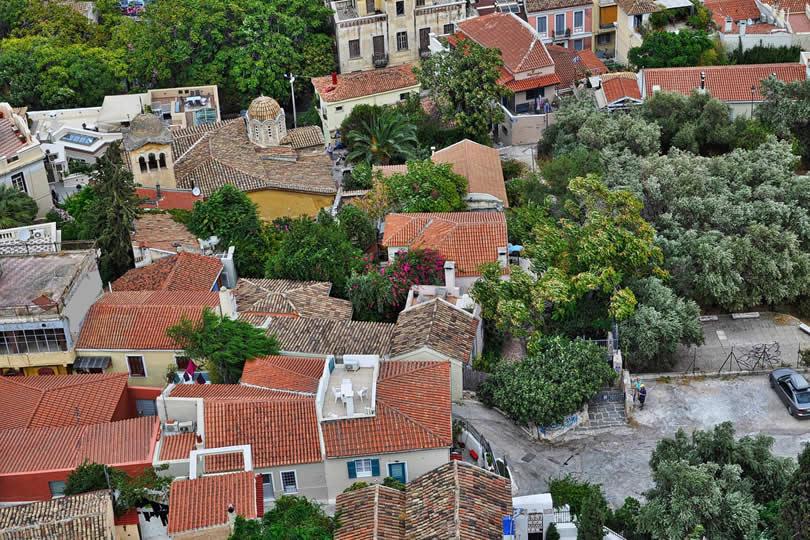 Plaka neighborhood in Athens